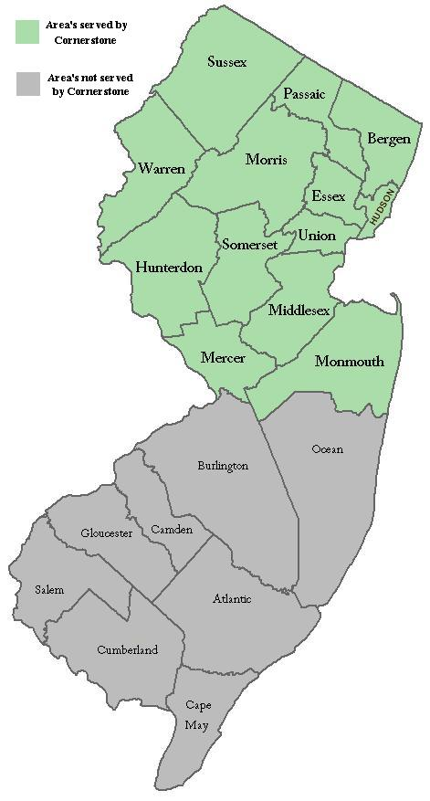Chester New Jersey Map.Areas We Service Cornerstone Home Inspections